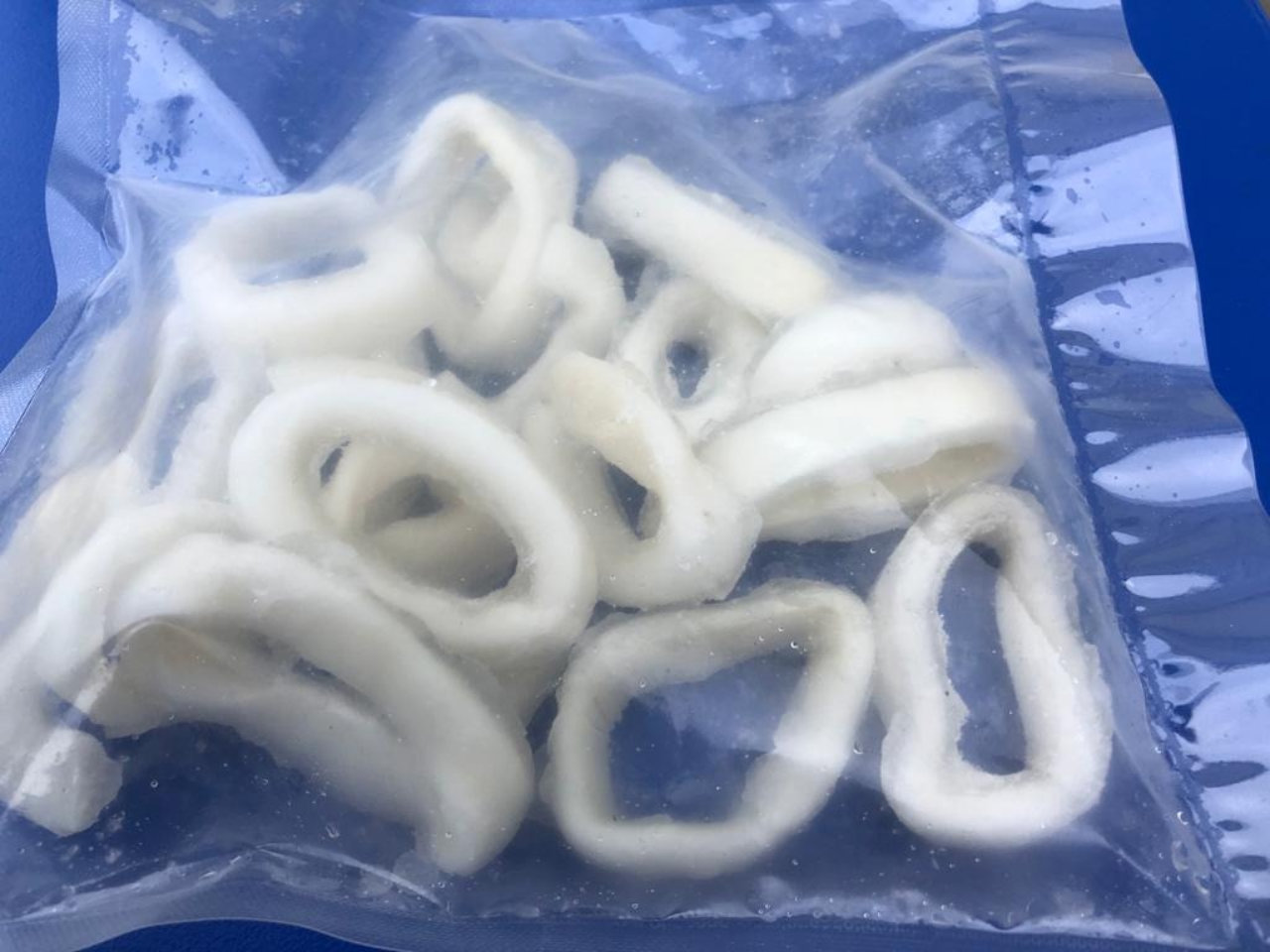 Squid Rings Delivered by Britannia Shellfish in South Devon